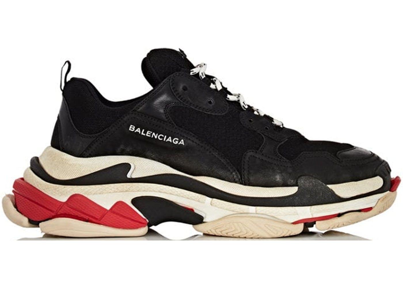 Balenciaga Triple S Black White Red(バレンシアガトリプルソールブラックホワイトレッド) ブラック/ホワイト-レッド