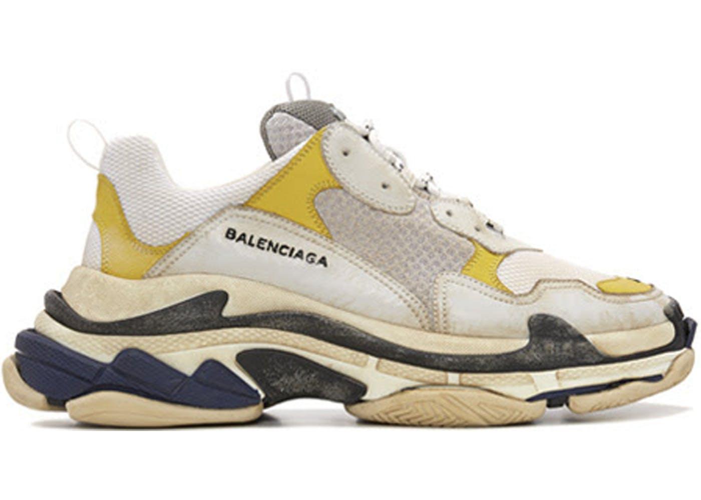 Balenciaga Triple S DSM(バレンシアガトリプルソールディーエスエム) ホワイト/イエロー-ブルー