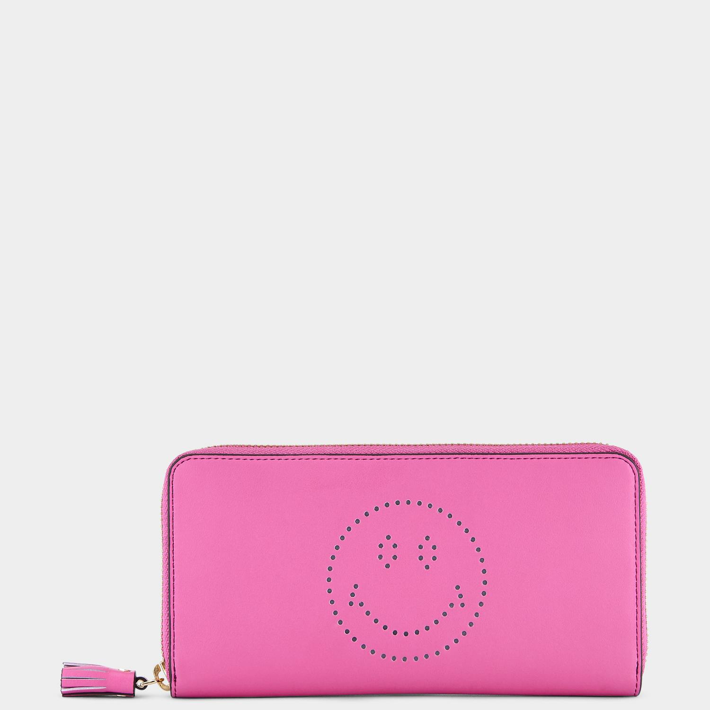 Large Zip-Round Wallet(ラージジップラウンドウォレット) バブルガム