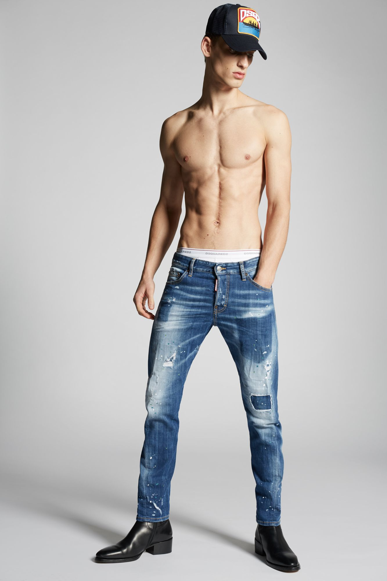 Light Pocket Sexy Twist Jeans ブルー