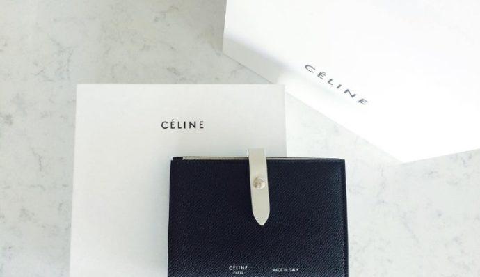 CELINE ストラップ財布