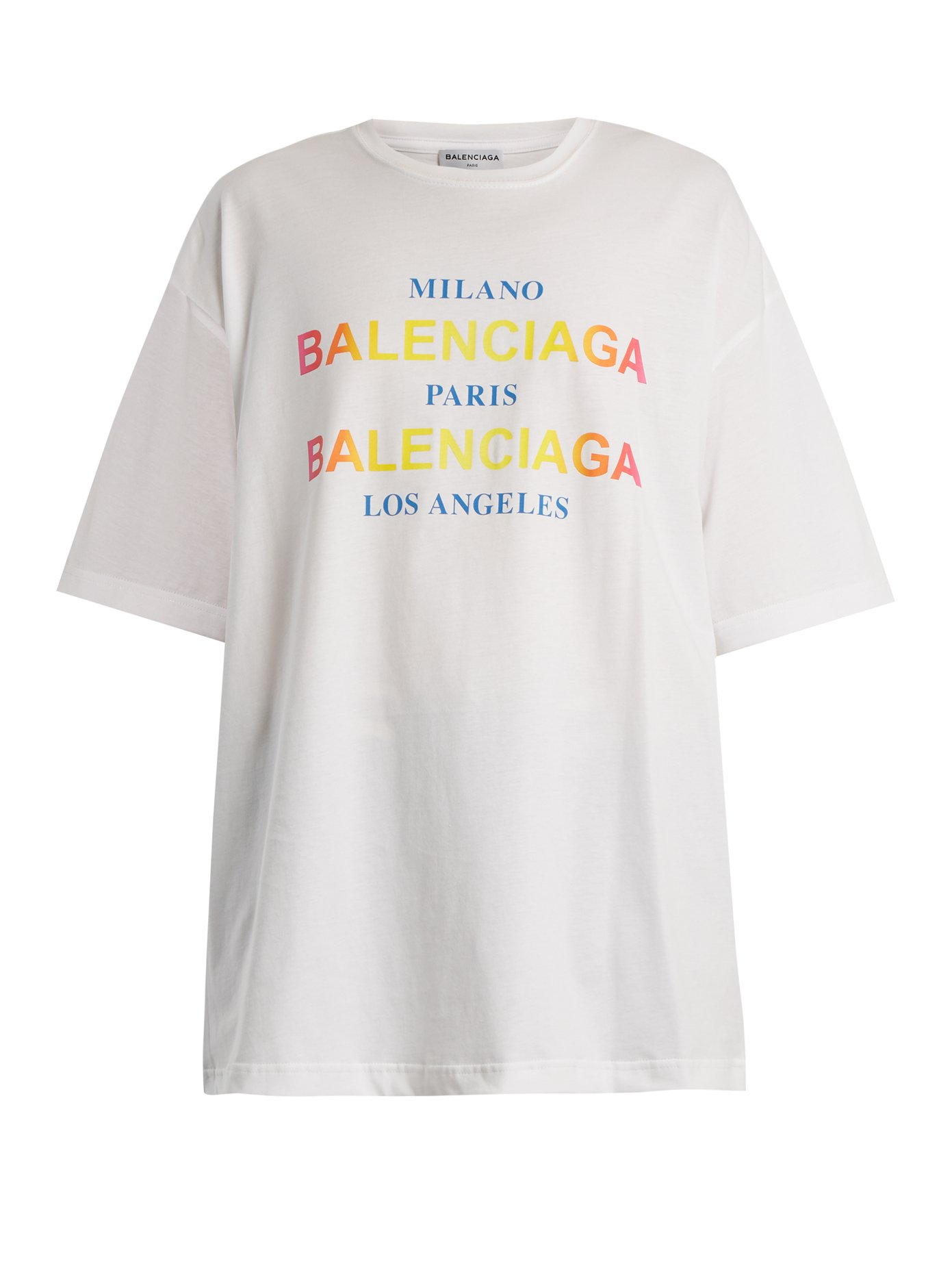 ロゴアンドシティプリントコットンTシャツ ホワイト