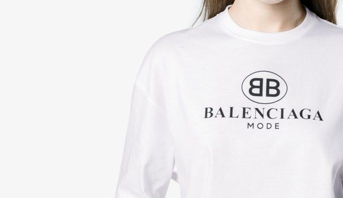 BALENCIAGA ロゴトップス