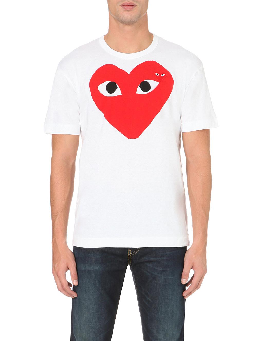 Play heart logo cotton t-shirt