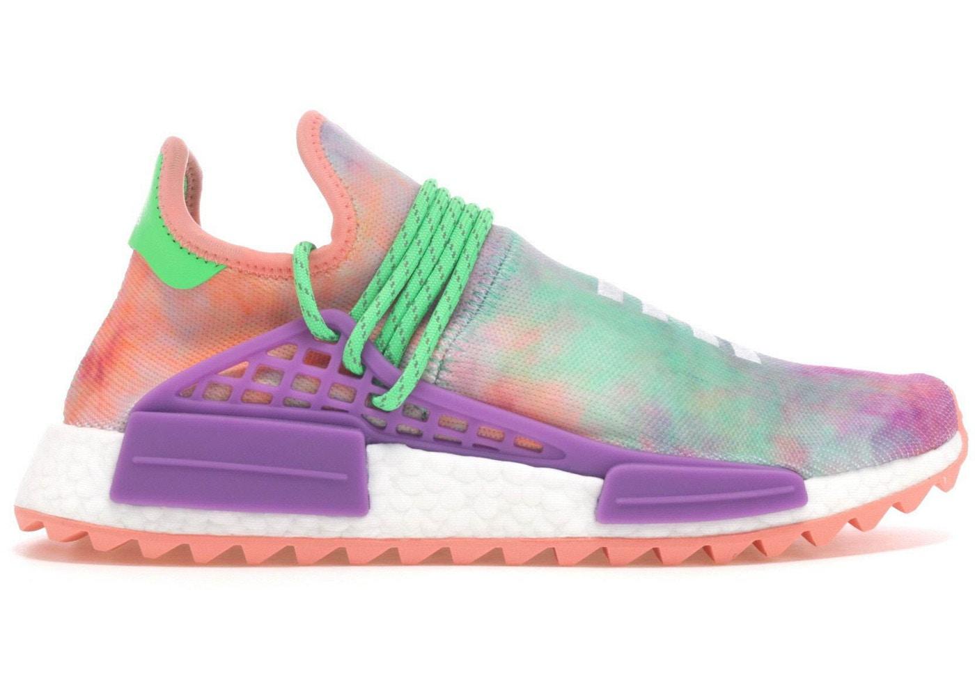 adidas Human Race NMD Pharrell Holi Festival チョークコーラル/フラッシュグリーンラボパープル