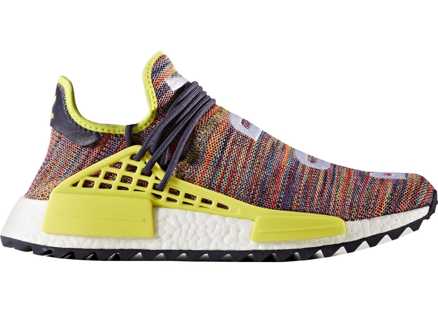 adidas Human Race NMD Pharrell Multi-Color ノーブルインク/ボールドイエロー/フットウェアホワイト