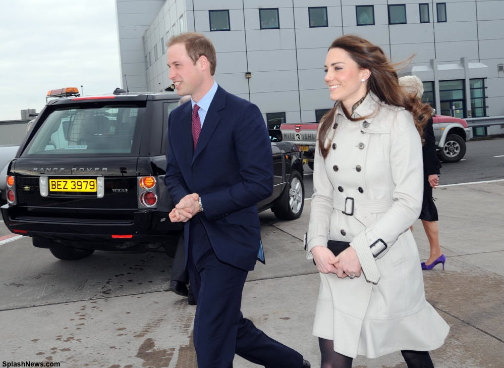 Prince William and Kate Middleton arrive in Belfast, Northern Ireland
