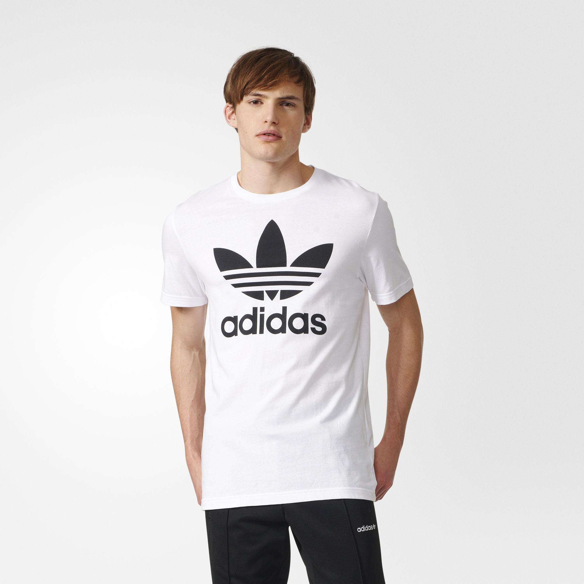 adidas big logo tee
