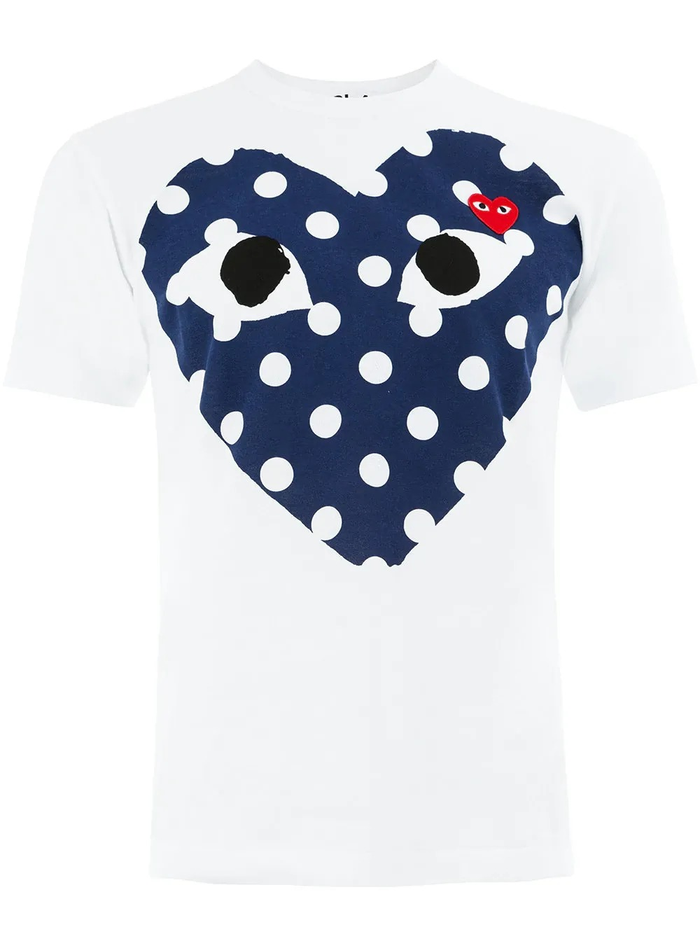 PLAY COMME des GARCONS ロゴ&ハートパッチのトップス