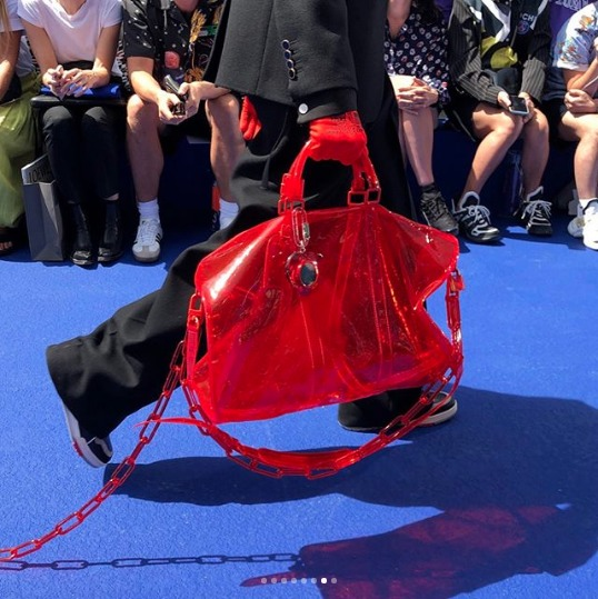 Louis-Vuitton-Red-Transparent-Keepall-Bag-Spring-2019