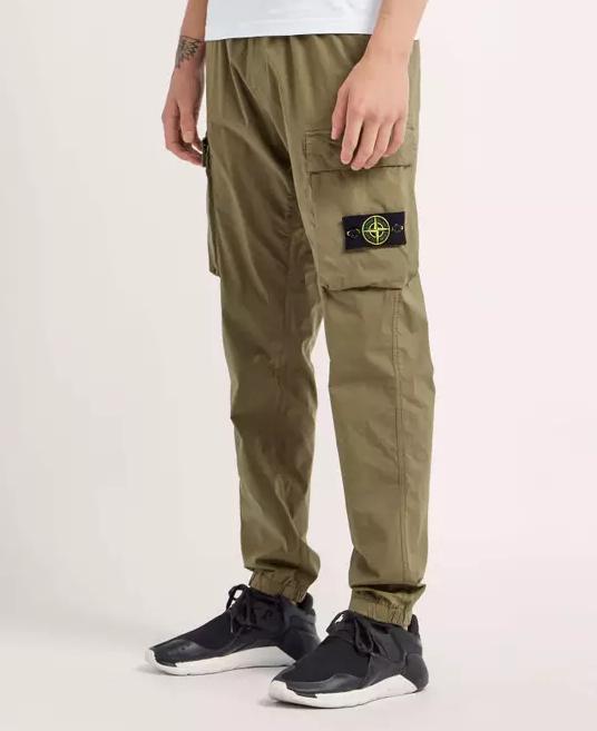 Stone Island Olive Cargo Pants
