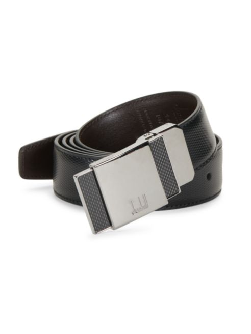 Reversible Leather Pin Buckle Belt