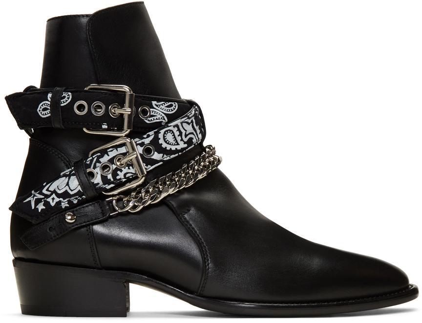 amiri-black-bandana-buckle-boots