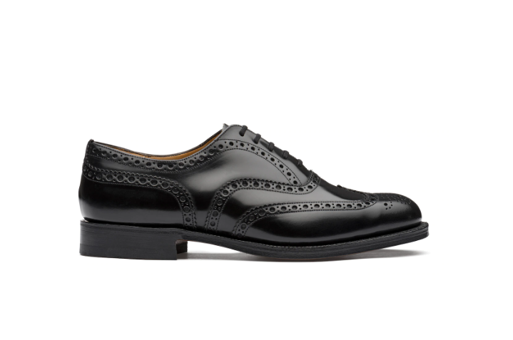 Polished Binder Oxford Brogue Black