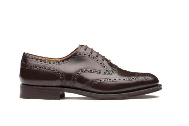 Polished Binder Oxford Brogue Light ebony