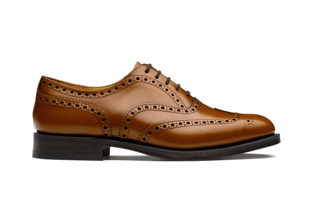 Polished Binder Oxford Brogue Sandalwood
