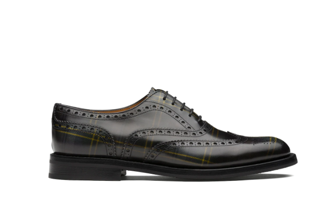 Polished Fumè Oxford Tartan Anthracite
